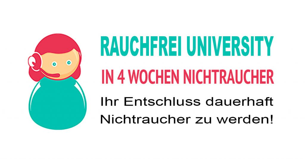 Rauchfrei University Online Kurs: In 4 Wochen Nichtraucher werden